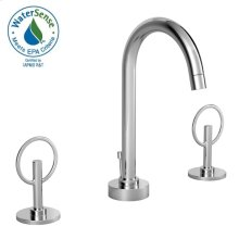 Stoic Widespread Lavatory Faucet - Loop Handles - Polished Chrome