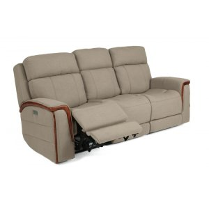 FLEXSTEELSnyder Power Reclining Sofa with Power Headrests