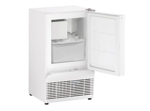 """Ada Series 14"""" Crescent Ice Maker With White Solid Finish and Field Reversible Door Swing"""