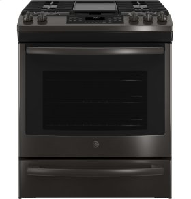 Slide-In Front Control, Premium Black Stainless Steel Appearance, 5.6 cu. Ft. Self-Cleaning Convection Gas Range