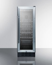 """12"""" Wide Built-in Undercounter Commercial Beverage Center With Lock, Digital Thermostat, and LED Lighting"""