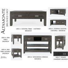 Altamonte Cocktail Table - Brushed Grey