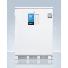 """24"""" Wide All-freezer for Built-in Use, Manual Defrost With A Nist Calibrated Thermometer, Lock, and -25 c Capability"""
