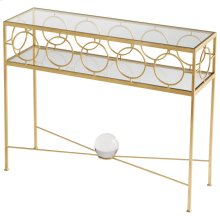 Auric Orbit Console Table