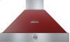 Hood DECO 36'' Red matte, Chrome 1 blower, analog control, baffle filters