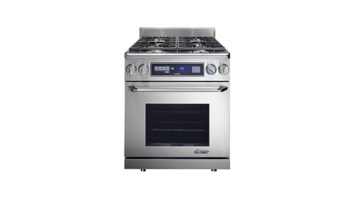 "Renaissance 30"" Dual-Fuel Range, in Stainless Steel with Chrome Trim, Natural Gas"