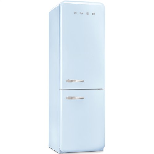 50'S Retro Style refrigerator with automatic freezer, Pastel blue, Right hand hinge