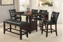6 Piece Faux Marble Dining Set