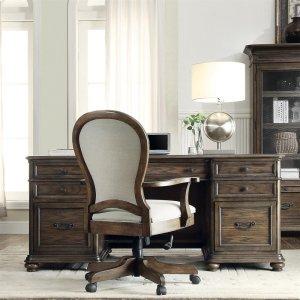 RiversideBelmeade - Executive Desk - Old World Oak Finish