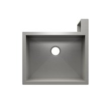 "SocialCorner® 005301 - undermount with apron front stainless steel Kitchen sink , 23"" × 18"" × 10"" Right corner"