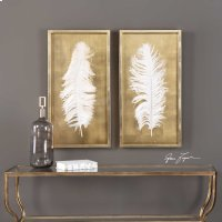 White Feathers, S/2 Product Image