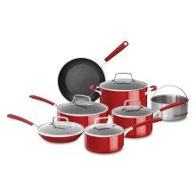 Aluminum Nonstick 12-Piece Set - Empire Red