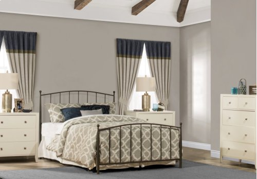 Warwick Twin Bed Set With Rails (gray Bronze)