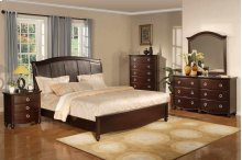 Dresser, 6 Drawers, Dark Brown