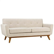 Engage Upholstered Loveseat in Beige Product Image