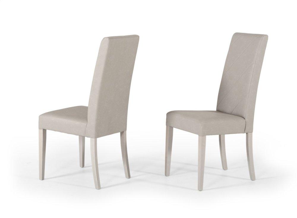 Nova Domus Alexa Italian Modern Grey Dining Chair (Set Of 2)