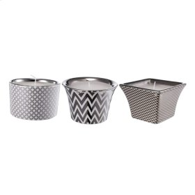 S/3 Herringbone Candles