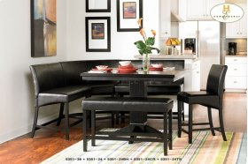 Black bi-cast vinyl Dining Set