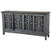 Garrison Brushed Charcoal Metallic 4 Sliding Door Media Console Product Image