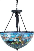 Ceiling Lamp - Ant. Bronze/tiffany Shade, Type A 60wx3 Product Image