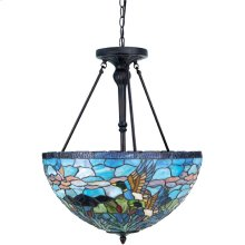 Ceiling Lamp - Ant. Bronze/tiffany Shade, Type A 60wx3