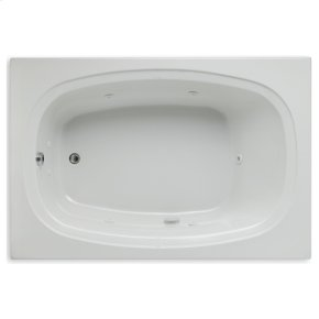 "Easy-Clean High Gloss Acrylic Surface, Rectangular, Whirlpool Bathtub, 48"" X 72"""