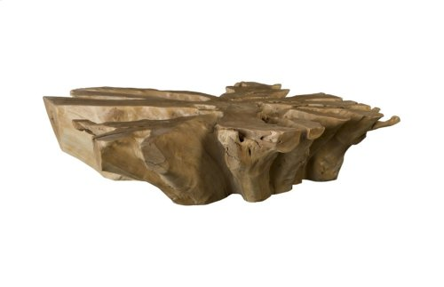 Teak Root Coffee Table, Square, Bleached