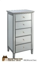 Mirrored 5 Drawer Chest Product Image