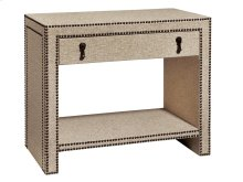 Nailhead and Linen Nightstand