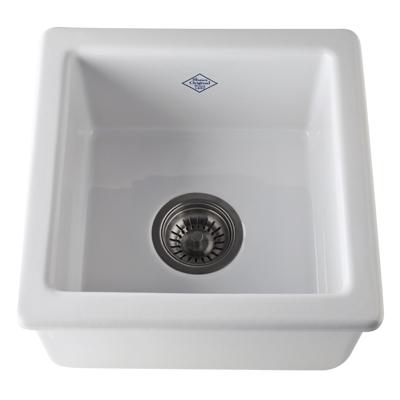 White Shaws Original Belthorn Single Bowl Fireclay Bar/Food Prep Sink