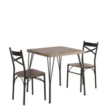Tiago 3Pk Dining Set in Rustic Oak