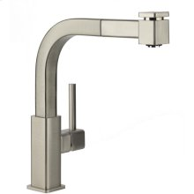 Elkay Avado Single Hole Kitchen Faucet with Pull-out Spray and Lever Handle Chrome