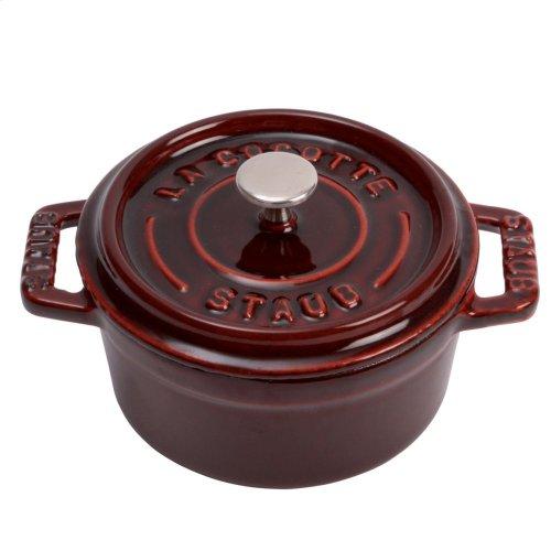 Staub Cast Iron 0.25-qt Mini Round Cocotte, Grenadine