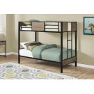 BUNK BED - TWIN / TWIN SIZE / DARK TAUPE / BLACK METAL Product Image