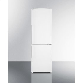 "Counter Depth Bottom Freezer Refrigerator In Slim 24"" Width and White Finish"