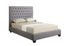 Emerald Home Sophia Upholstered Bed Kit Queen Linen Grey B107a-10-k