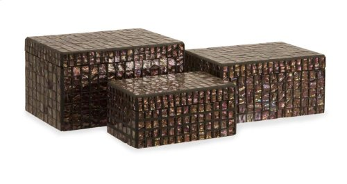 Orchid Mosaic Boxes - Set of 3