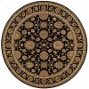 Living Treasures Li05 Blk Round Rug 7'10'' X 7'10''