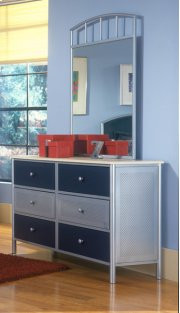 Brayden Dresser Silver and Navy Product Image