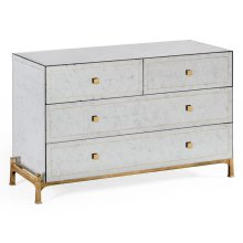 glomise & Gilded Large Chest of Drawers