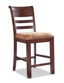 "Rustic Heirloom 24"" Ladder Back Barstool w/Cushion"