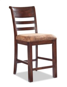 "Rustic Heirloom 24"" Ladder Back Barstool w/Cushion"