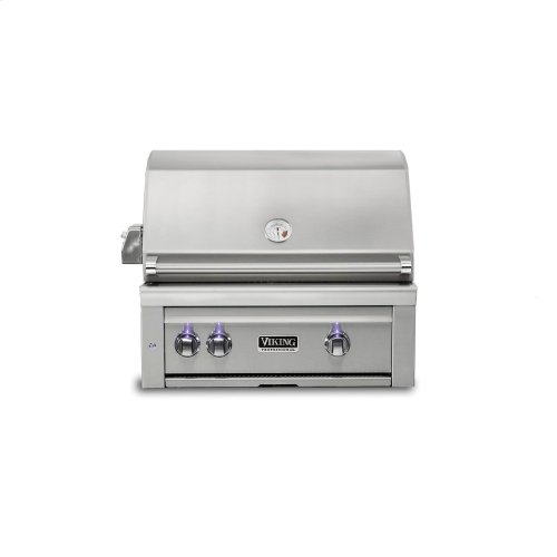 "30""W. Built-in Grill w ProSear Burner and Rotisserie, Propane Gas"