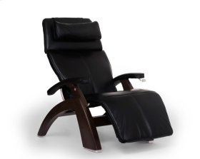 Perfect Chair PC-420 Classic Manual Plus - Black Premium Leather - Dark Walnut