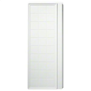 """Ensemble™ 35-1/4"""" x 72-1/2"""" Tile Alcove Shower - End Wall Set with Age-in-Place Backers - White Product Image"""