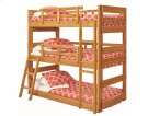 Heartland Twin Triple Bunk Bed with options: Honey Pine, Twin over Twin over Twin Product Image