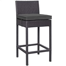 Convene Outdoor Patio Fabric Bar Stool in Espresso Charcoal Product Image