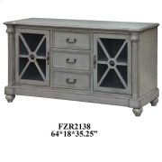 Brookstone 2 Door 3 Drawer Brushed Grey Linen Media Console Product Image