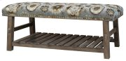 Hillcrest Rustic Frame & Pattern Bench Product Image