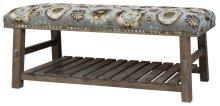 Hillcrest Rustic Frame & Pattern Bench